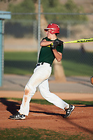 George Packard (55), from Yelm, Washington, while playing for the Athletics during the Under Armour Baseball Factory Recruiting Classic at Red Mountain Baseball Complex on December 29, 2017 in Mesa, Arizona. (Zachary Lucy/Four Seam Images)
