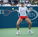 Christina McHale (USA) battles Elina Svitolina (UKR) at the US Open being played at USTA Billie Jean King National Tennis Center in Flushing, NY on August 29, 2013