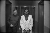 5 Mars 1978. Alain Cortèze dans un couloir.<br /> <br /> Il est accusee du double crime du CINTRA