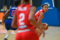 Jada Stinson (10) of Puerto Rico pictured during a basketball game between the national teams of Puerto Rico and Serbia on Sunday 30 th of May 2021 in Kortrijk , Belgium . PHOTO SPORTPIX.BE | SPP | STIJN AUDOOREN