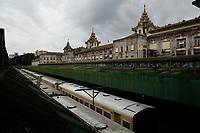 Train Station, Yangon, Myanmar in 2017