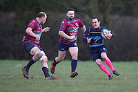 Old Cooperians RFC vs Barking RFC, London 3 Essex Division Rugby Union at the Coopers Company and Coborn School on 14th March 2020