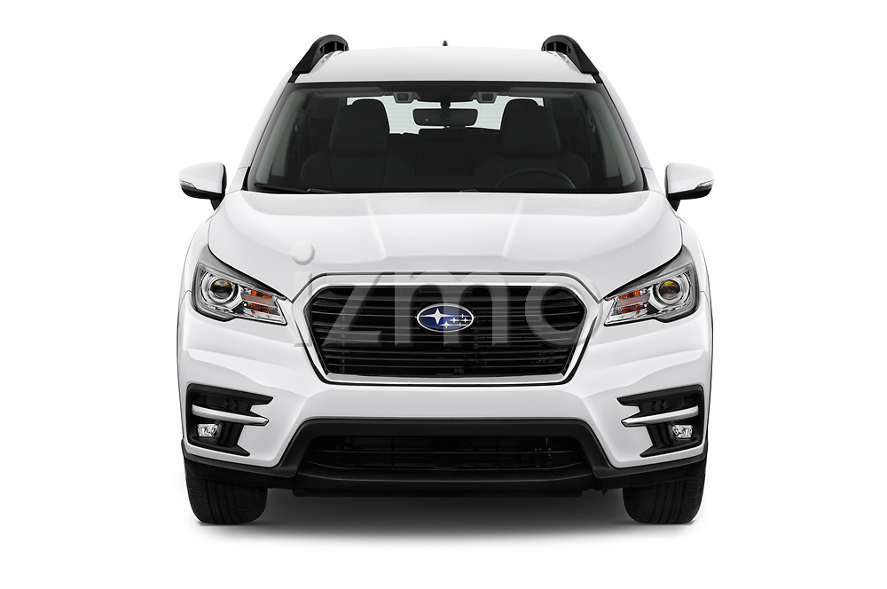 Car photography straight front view of a 2019 Subaru Ascent Limited 5 Door SUV