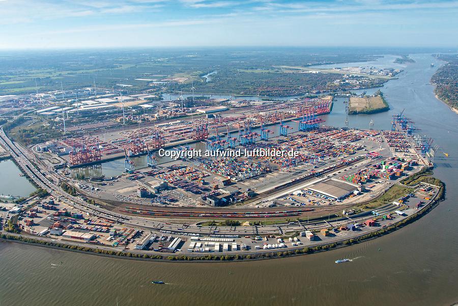 Containerterminal Hamburg: EUROPA, DEUTSCHLAND, HAMBURG, (EUROPE, GERMANY), 13.10.2018 Eurogate Container Terminal Hamburg GmbH und HHLA Container Terminal Burchardkai GmbH