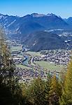 Austria, Tyrol,  Telfs at river Inn   Oesterreich, Tirol, Telfs am Inn