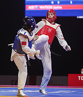 Australia's Taekwondo competitor Janine Watson in action on day 11 of the 2020 Tokyo Paralympic Games.<br /> Paralympics Australia / Day 11<br /> Tokyo Japan: Saturday 4th Sep 2021<br /> © Sport the library / Greg Smith / PA