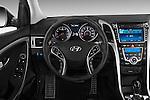 Steering wheel view of a 2013 Hyundai Elantra GT Hatchback