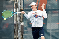SAN ANTONIO, TX - JANUARY 25, 2019: The University of Texas at San Antonio Roadrunners defeat the Prairie View A&M University Panthers 6-1 at the UTSA Tennis Center. (Photo by Jeff Huehn)