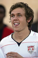 The United States' Jared Jeffrey (8) walks on the field before the FIFA Under 20 World Cup Group C Match between the United States and Germany at the Mubarak Stadium on September 26, 2009 in Suez, Egypt.