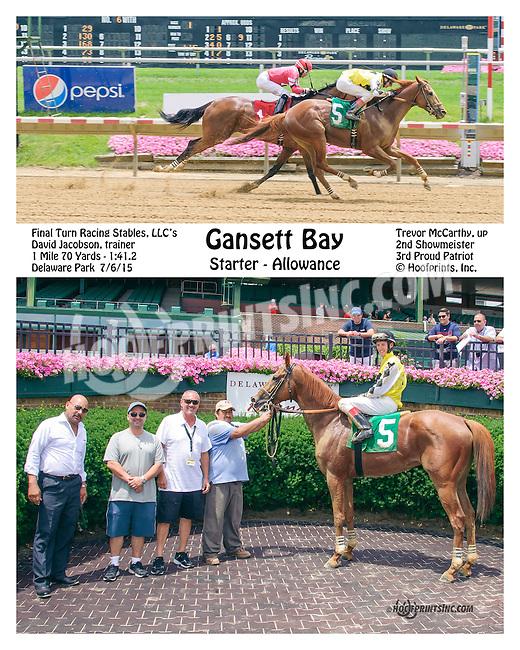 Gansett Bay winning at Delaware Park on 7/6/15