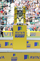 The trophy on display at the end of the Premiership Rugby Final at Twickenham Stadium on Saturday 27th May 2017 (Photo by Rob Munro)