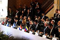 BOGOTÁ – COLOMBIA, 24-02-2019: Asistentes de los diferentes países, durante la 11ª reunión de Ministros de Relaciones Exteriores del Grupo de Lima en Bogotá, Colombia. El grupo de 14 miembros de Lima, que incluye a la mayoría de los paises latinoamericanos. Es la primera reunión en la que Venezuela participará como miembro del grupo de Lima, representado por el presidente interino Juan Guaido. / Assistants from different countries, during the 11th Lima Group Foreign Ministers meeting in Bogota, Colombia. The 14-member Lima Group, which includes most Latin American. It is first meeting in which Venezuela will participate as a member of the Lima group, represented by the Acting President Juan Guaido. Photo: VizzorImage / Luis Ramírez / Staff.