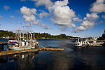 Ucluelet, British Columbia lies at the south end of Canada's Pacific Rim National Park along the north shore of Barkley Sound.  The harbor is home to commercial and sport fishing fleets and a jump off point to Kayak the Broken Island group.  Port Albion lies in the background.