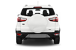 Straight rear view of a 2015 Ford ECOSPORT TITANIUM 5 Door SUV Rear View  stock images
