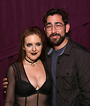 """Jennifer Simard and Max Crumm backstage after """"Stigma"""" on September 9, 2018 at the Green Room 42 in New York City."""