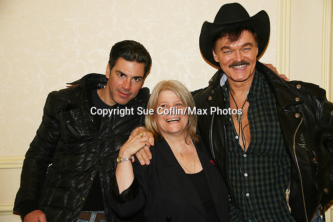 Eric Etebari and Penny Landau and Randy Jones (The Village People) both are in the new indie film An Affirmative Act! - a groundbreaking gay marriage courtroom drama on January 21, 2010 at the Marriott Saddle Brook, Saddle Brook, NJ. Film opens at the Hoboken International Film Festival. (Photo by Sue Coflin/Max Photos)