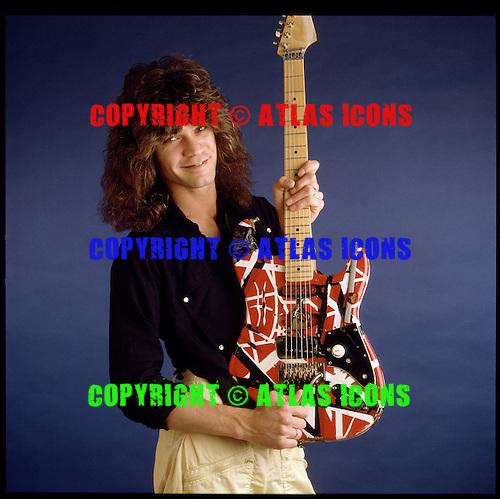 Eddie Van Halen...Photo session in my Hollywood studio for GUITAR WORLD Magazine