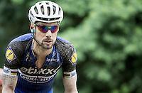 dirty Tom Boonen (BEL/Etixx-QuickStep) <br /> <br /> 1st Dwars door het Hageland 2016<br /> (pics by Léon Van Bon)