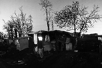 Immigrants without accommodation inhabit the abandoned areas of the city. Milan, 2008.