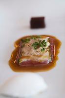 Europe/République Tchèque/Prague:Gnocchi de champignons et sorbet coco, Recette de  Marek Raditsch chef du Restaurant Kampa Park