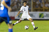 Tyler Adams #4 of the United States passes the ball