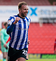 20th March 2021, Oakwell Stadium, Barnsley, Yorkshire, England; English Football League Championship Football, Barnsley FC versus Sheffield Wednesday; Jordan Rhodes of Sheffield Wednesday celebrates scoring the opening goal after 38 minutes