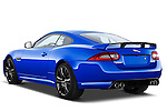 Rear three quarter view of a 2012 Jaguar XKR-S Coupe