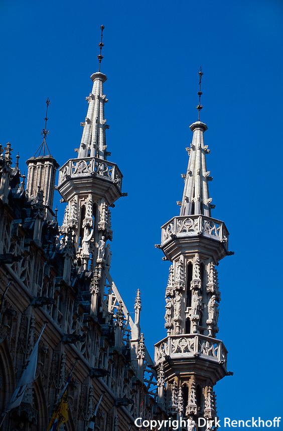 Belgien, Flandern, spätgotisches Rathaus (1439-1469)  in Leuven in Brabant