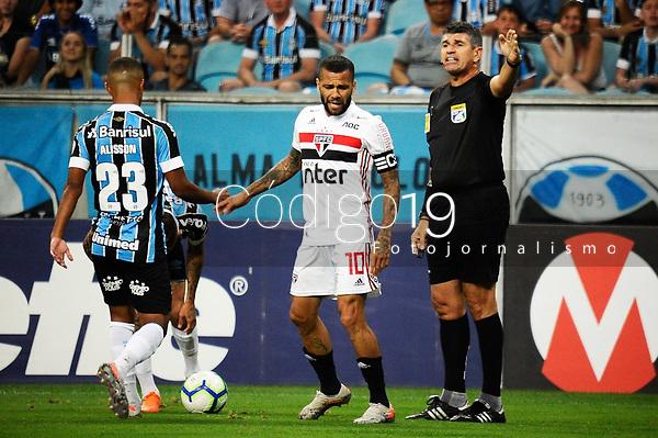 PORTO ALEGRE, RS, 01.12.2019 - GREMIO - SAO PAULO - Diego Alves, na partida entre Grêmio e São Paulo, pela 36. rodada do Campeonato Brasileiro 2019, no estádio Arena Grêmio, em Porto Alegre, neste domingo (1).