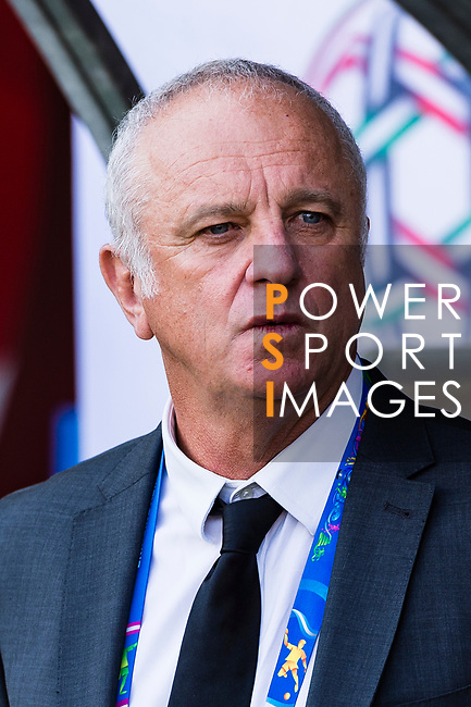 Australia Head Coach Graham Arnold is seen prior to the AFC Asian Cup UAE 2019 Group B match between Australia (AUS) and Jordan (JOR) at Hazza Bin Zayed Stadium on 06 January 2019 in Al Ain, United Arab Emirates. Photo by Marcio Rodrigo Machado / Power Sport Images