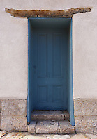 Blue Viga Door - Arizona<br /> Historic Adobe - Tucson