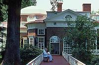 Thomas Jefferson: Monticello, west elevation. National landmark, 1960. Charlottesville, VA.  Photo '85.
