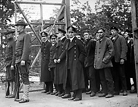Officers and crew of the German submarine U.58, captured by the U.S.S. Fanning, entering the War Prison Camp at Ft. McPherson, Ga.  April 1918.  Mathewson & Winn.  (War Dept.)<br /> EXACT DATE SHOT UNKNOWN<br /> NARA FILE #:  165-WW-A161-4<br /> WAR & CONFLICT BOOK #:  688