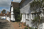 Hartfield East Sussex. UK Traditional clapper board houses.