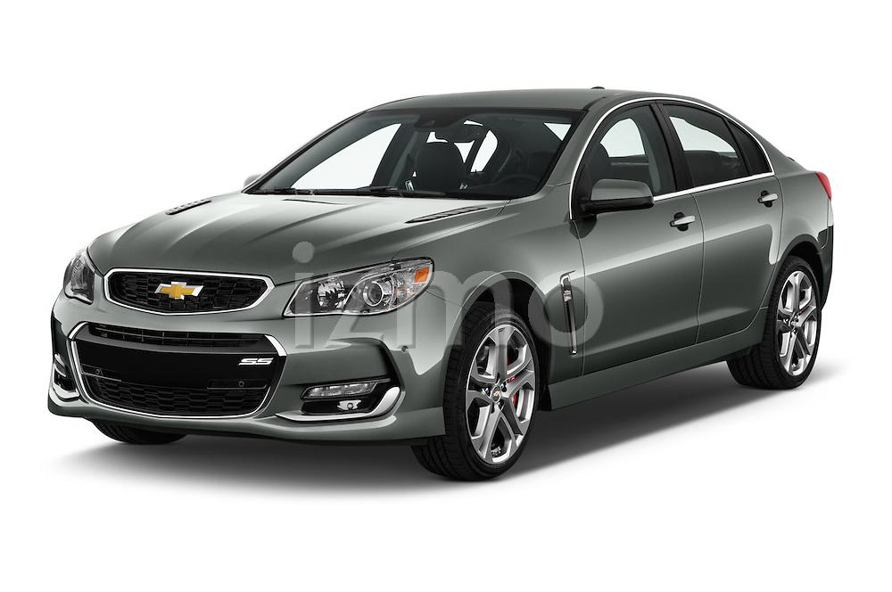 2017 Chevrolet SS 6.2 4 Door Sedan Angular Front stock photos of front three quarter view