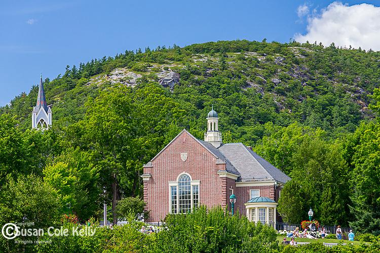 The Camden Public Library in Camden, Maine, USA