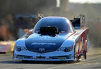 Jun. 30, 2012; Joliet, IL, USA: NHRA funny car driver Cruz Pedregon during qualifying for the Route 66 Nationals at Route 66 Raceway. Mandatory Credit: Mark J. Rebilas-
