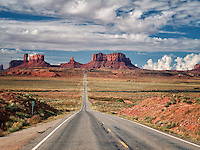 Highway leading to Monument Valley. Utah/Arizona