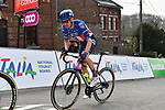 US Champion Alex Howes (USA) EF Education-Nippo climbs the Mur de Huy during the 2021 Flèche-Wallonne, running 193.6km from Charleroi to Huy, Belgium. 21st April 221.  <br /> Picture: Serge Waldbillig | Cyclefile<br /> <br /> All photos usage must carry mandatory copyright credit (© Cyclefile | Serge Waldbillig)