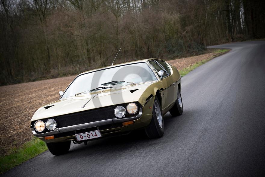 7/03/19 - BRUXELLES - BELGIQUE - FRANCE - Essais LAMBORGHINI Espada S2 GTE de 1971 - Photo Jerome CHABANNE
