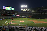 OAKLAND, CA - AUGUST 7:  Overall wide angle interior of the Oakland Coliseum during the game between the Houston Astros and Oakland Athletics at the Oakland Coliseum on Friday, August 7, 2020 in Oakland, California. (Photo by Brad Mangin)
