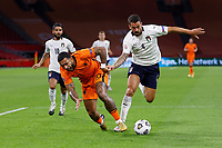 AMSTERDAM, 07-09-2020, JohanCruyff Stadium, season 2020 / 2021 . Nations Leaque game between Netherlands and Italy. Netherlands player Memphis Depay and Italian player Leonardo Spinazzola<br /> Amsterdam 07-09-2020 <br /> Football Calcio Uefa Nations League <br /> Olanda - Italia / Netherlands - Italy <br /> Photo Stanley Gontha / Pro Shots / Insidefoto <br /> ITALY ONLY