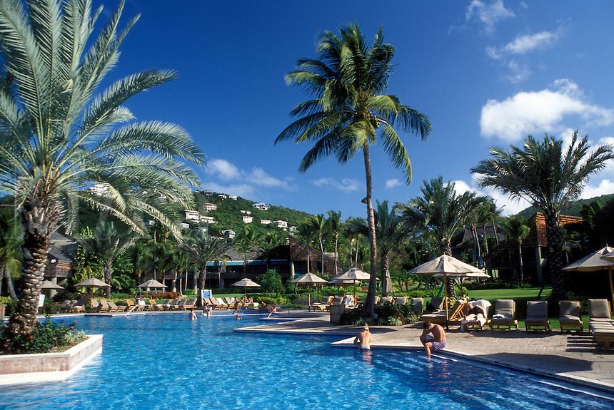 resort, pool, St. John, U.S. Virgin Islands, Caribbean, USVI, Swimming pool at the Westin Resort on Saint John Island.
