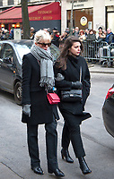 January 12 2018, Paris, France - Funerals of Singer France Gall in Montmartre Cemetery in Paris. Actress Cecile Cassel is present. # OBSEQUES DE FRANCE GALL AU CIMETIERE DE MONTMARTRE