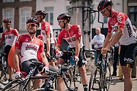 Team Lotto-Soudal waiting to sign-on<br /> <br /> 3rd Dwars Door Het hageland 2018 (BEL)<br /> 1 day race:  Aarschot > Diest: 198km
