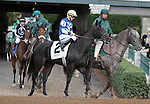 "October 04, 2014: Leigh Court and jockey Gary Boulanger win the 34th running of The Thoroughbred Club of America Grade 2 ""Win and You're In Filly & Mare Sprint Division"" $20,000 at Keeneland Racecourse.  Candice Chavez/ESW/CSM"