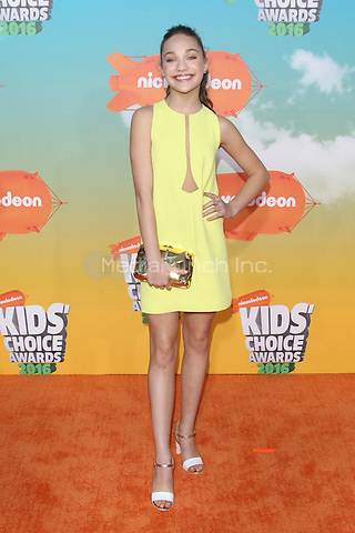 INGLEWOOD, CA - MARCH 12: Maddie Ziegler at Nickelodeon's 2016 Kids' Choice Awards at The Forum on March 12, 2016 in Inglewood, California. Credit: mpi24/MediaPunch