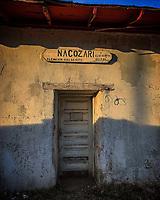 wooden door of the nacozari railway station on its route to Agua Prieta. Sunset. sunset wood<br /> <br /> <br /> puerta de madera de la estación de ferrocarril de nacozari en su ruta a Agua Prieta. Atardecer. ocaso, madera,