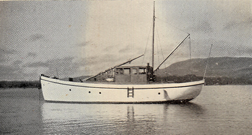 Blue Hills moored in Mulroy Bay in Donegal in 1938