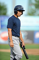 Staten Island Yankees outfielder Danny Oh (58) during game against the Brooklyn Cyclones at MCU Park on June 18, 2012 in Brooklyn, NY.  Brooklyn defeated Staten Island 2-0.  Tomasso DeRosa/Four Seam Images